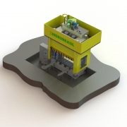 Hydraulische 4Säulen-Presse 250 T Hidrobrasil - Mecanica Exact